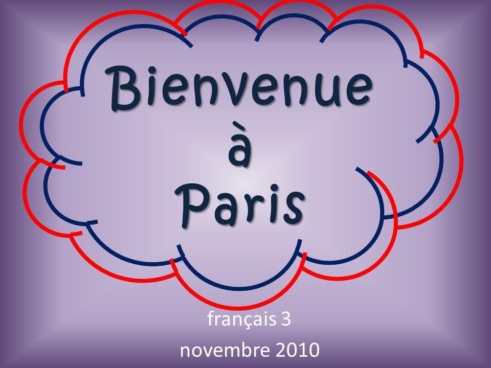 Bienvenue à Paris français 3 novembre 2010