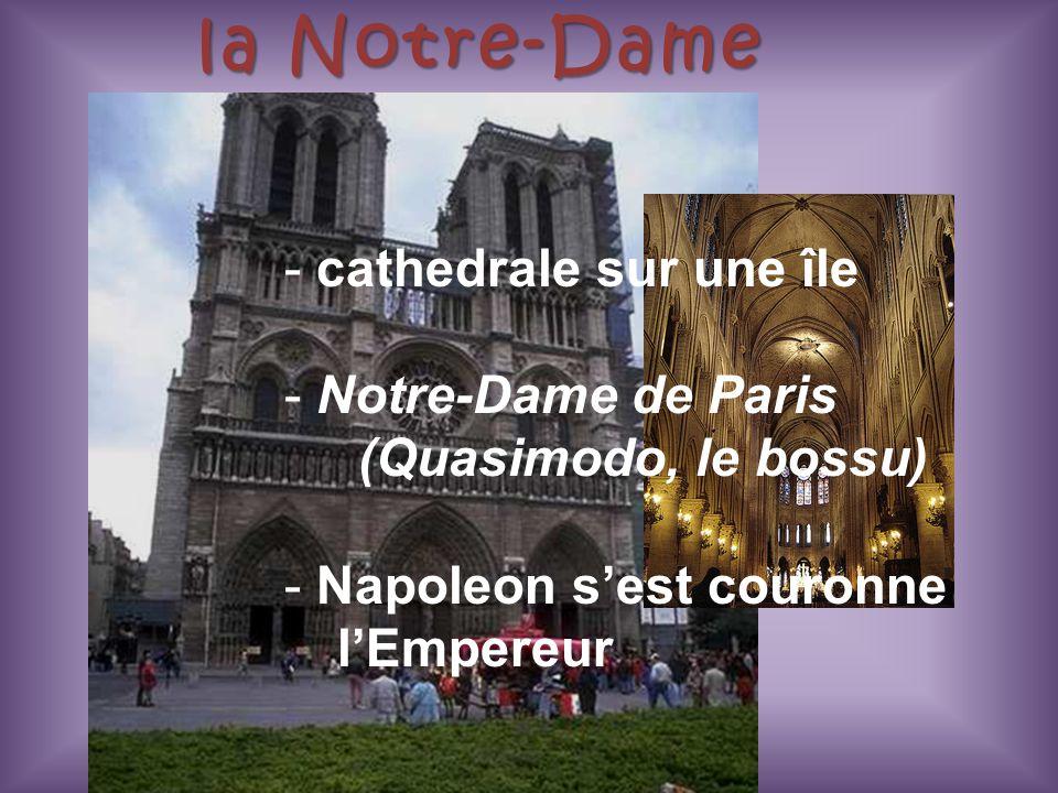 la Notre-Dame cathedrale sur une île Notre-Dame de Paris