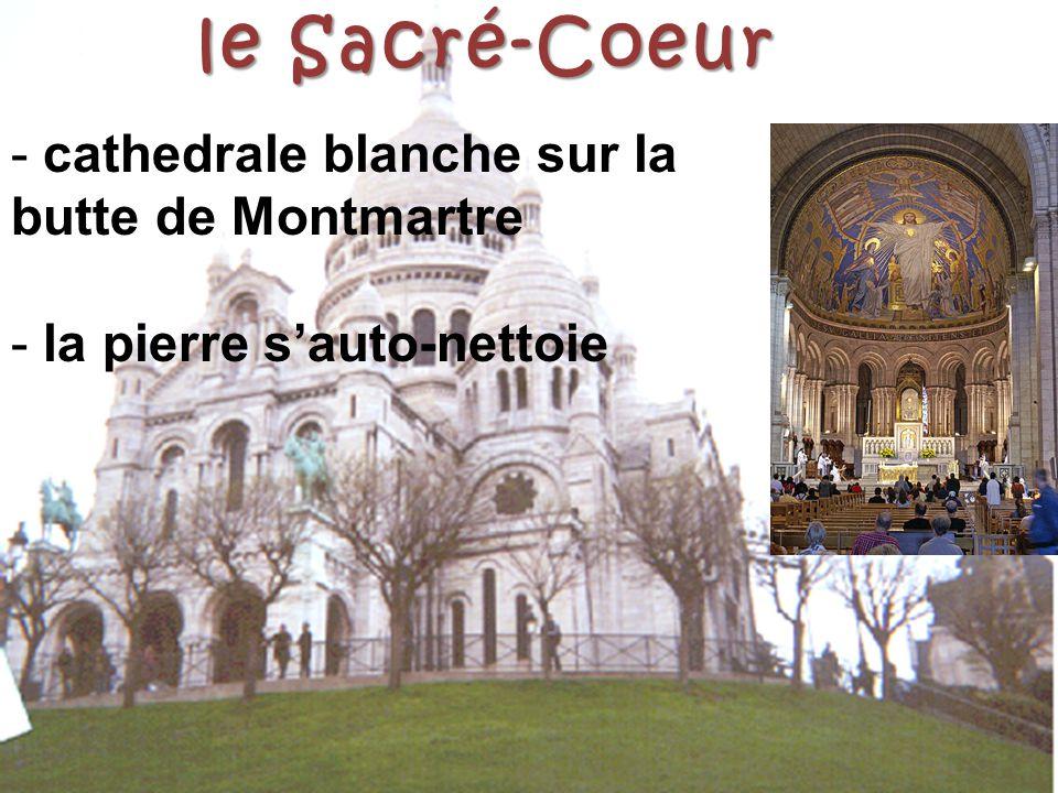 le Sacré-Coeur cathedrale blanche sur la butte de Montmartre