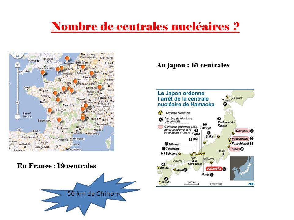 Nombre de centrales nucléaires
