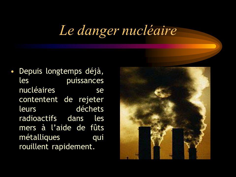 Le danger nucléaire