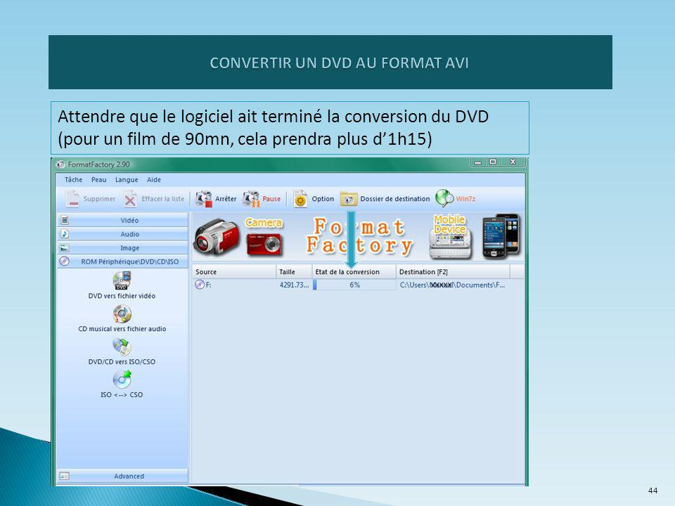CONVERTIR UN DVD AU FORMAT AVI