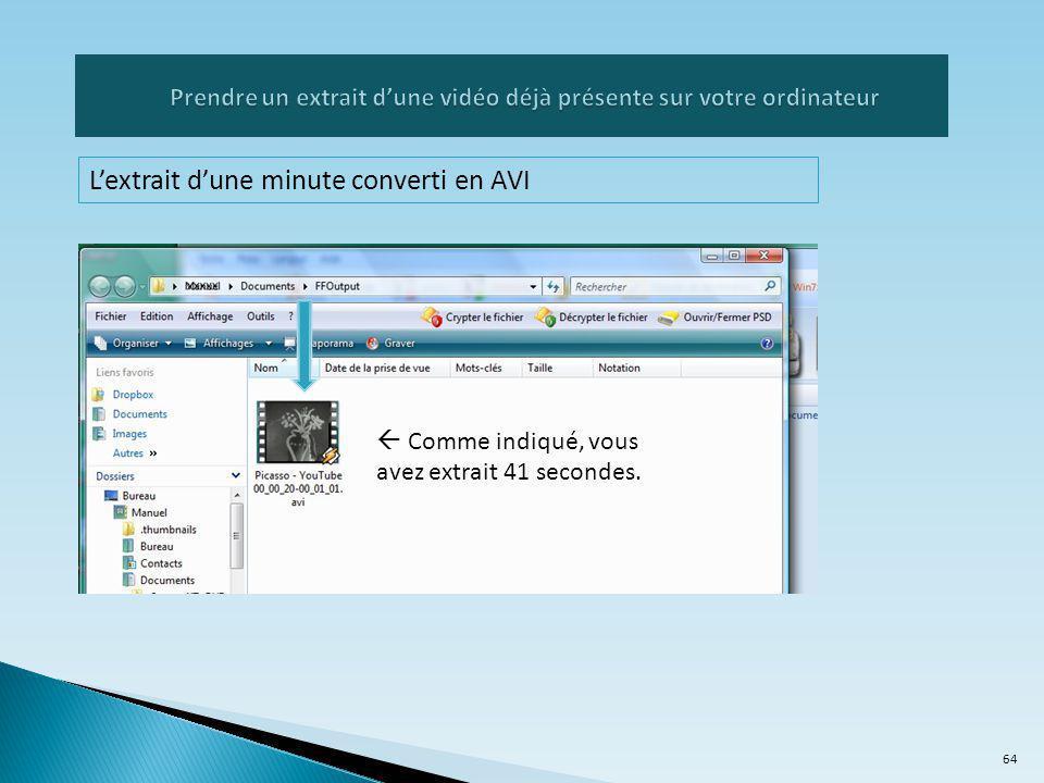Prendre un extrait d'une vidéo déjà présente sur votre ordinateur