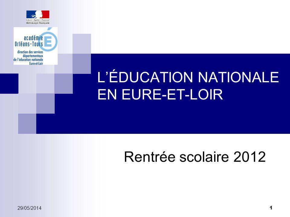 L'ÉDUCATION NATIONALE EN EURE-ET-LOIR