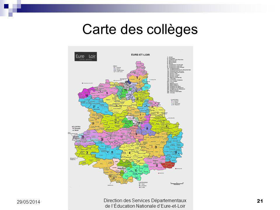 Carte des collèges 31/03/2017.