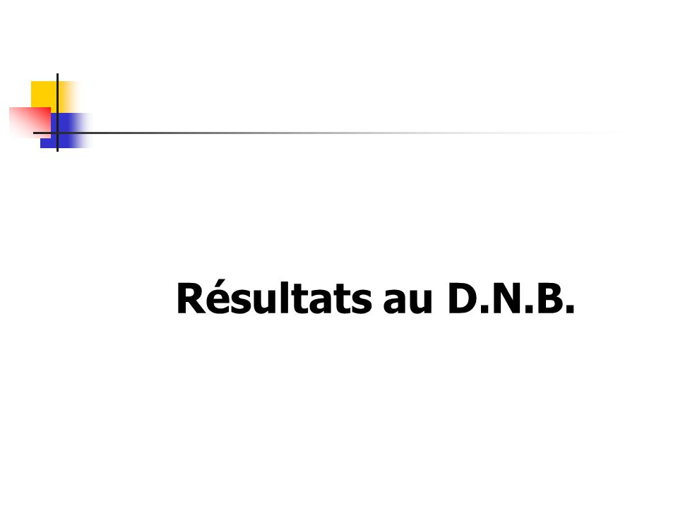 Résultats au D.N.B.