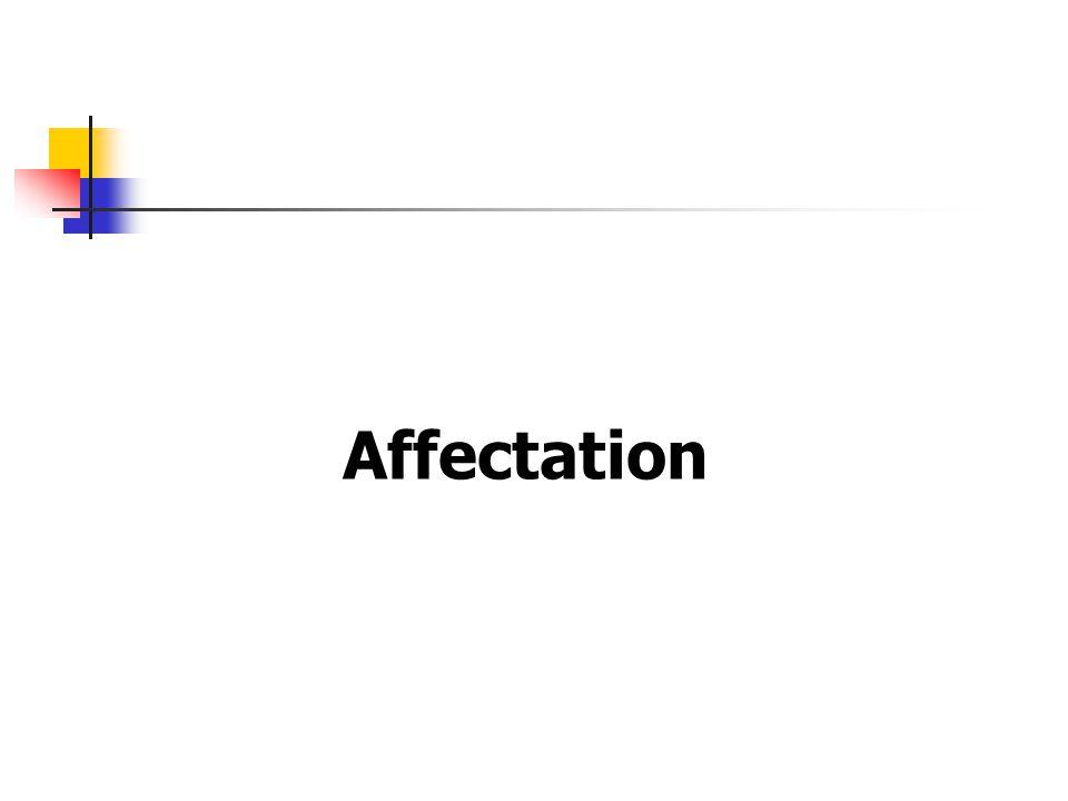 Affectation