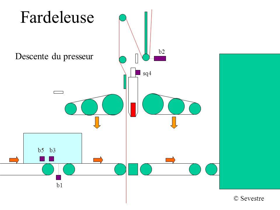 Fardeleuse b2 Descente du presseur sq4 b5 b3 b1 © Sevestre