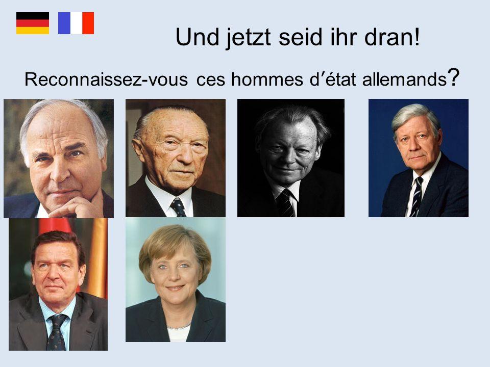 Reconnaissez-vous ces hommes d'état allemands
