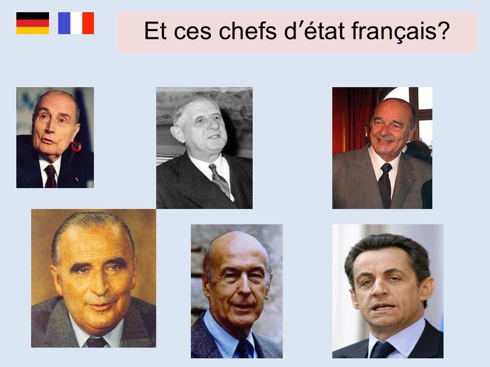 Et ces chefs d'état français