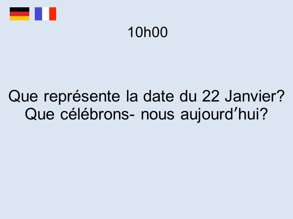 Que représente la date du 22 Janvier Que célébrons- nous aujourd'hui