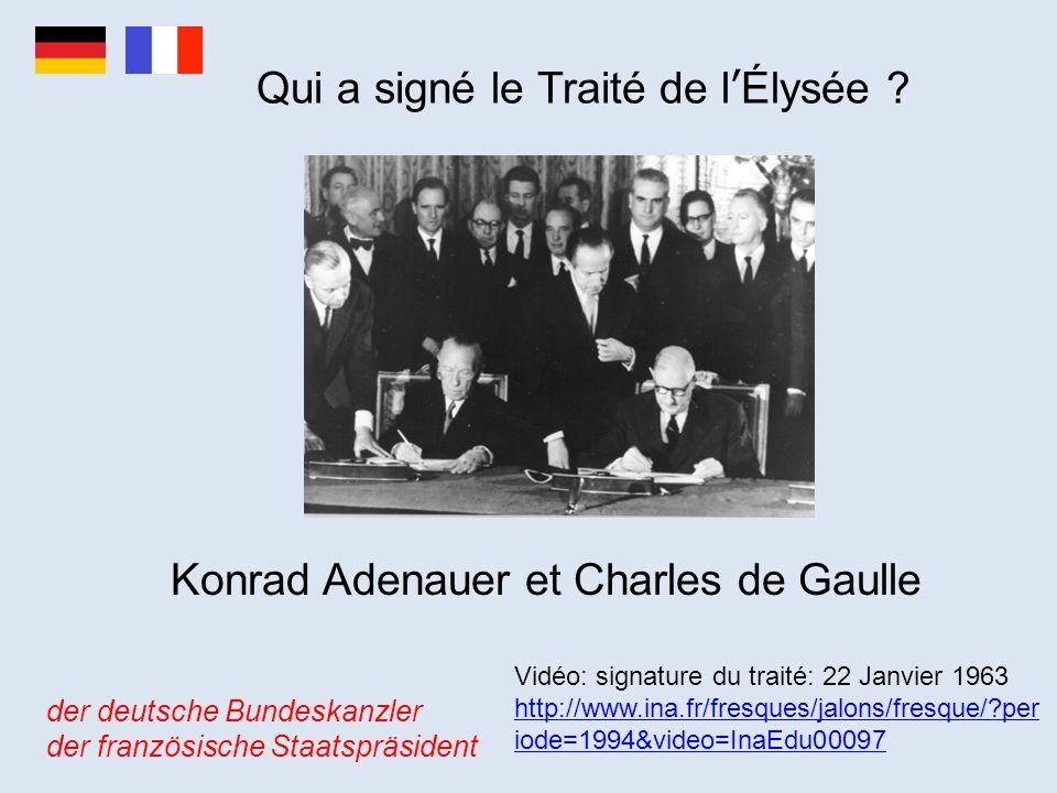 Qui a signé le Traité de l'Élysée
