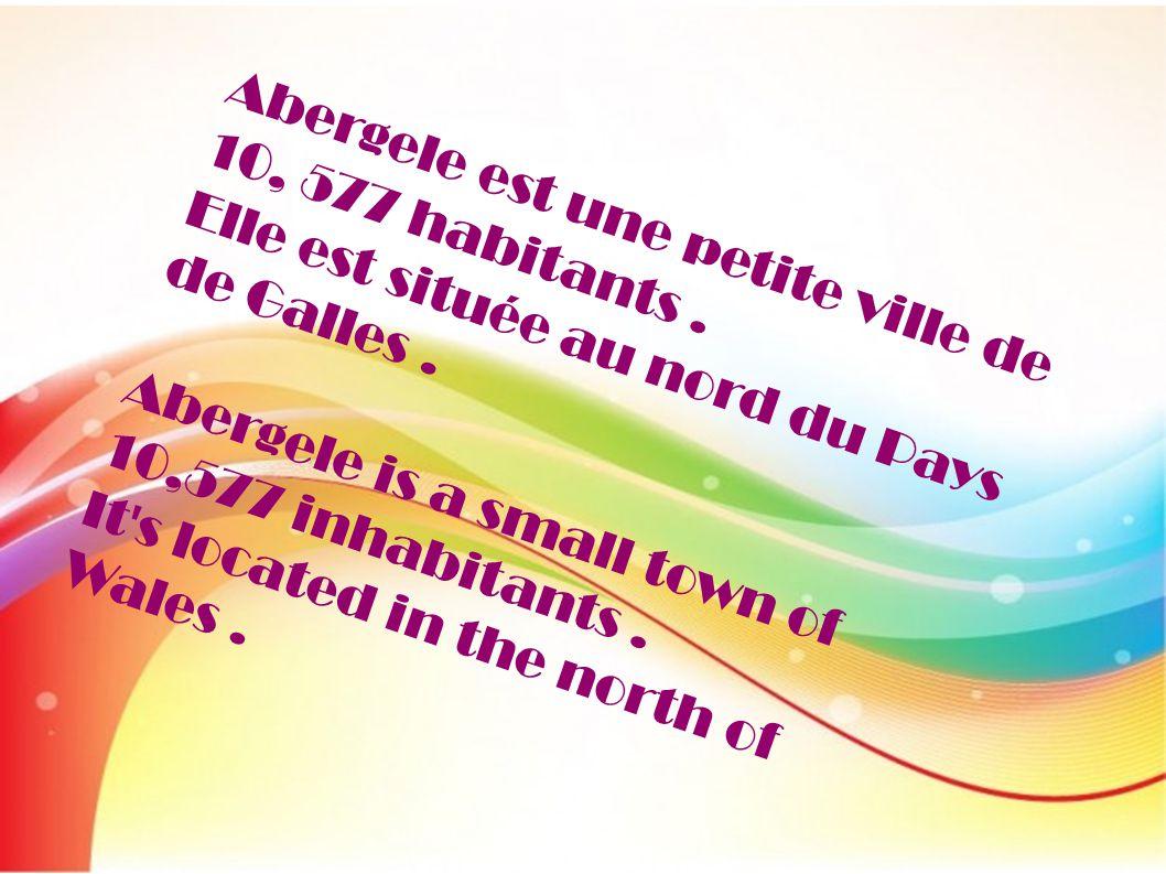 Abergele est une petite ville de 10, 577 habitants .