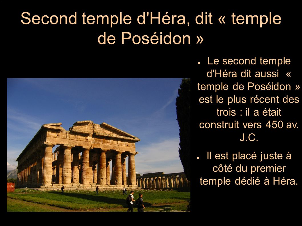 Second temple d Héra, dit « temple de Poséidon »