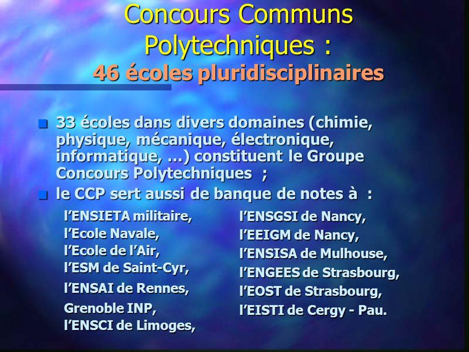 Concours Communs Polytechniques : 46 écoles pluridisciplinaires