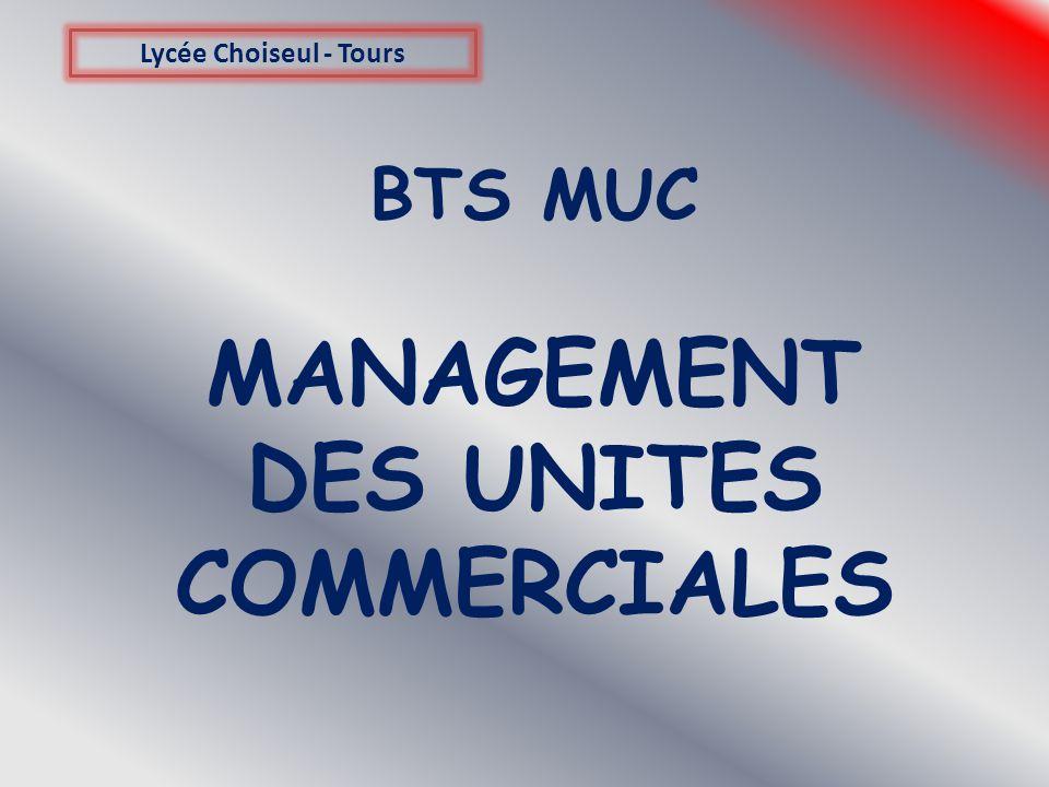 BTS MUC MANAGEMENT DES UNITES COMMERCIALES