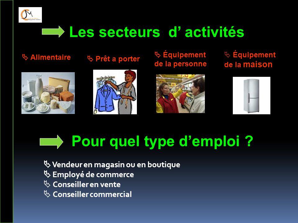 Les secteurs d' activités