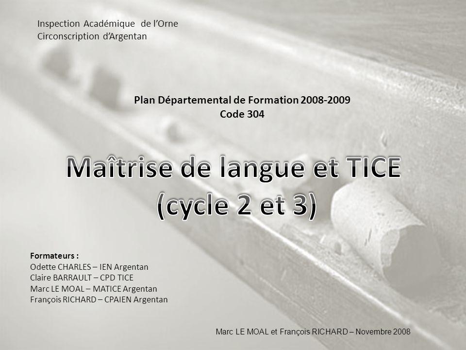 Maîtrise de langue et TICE (cycle 2 et 3)