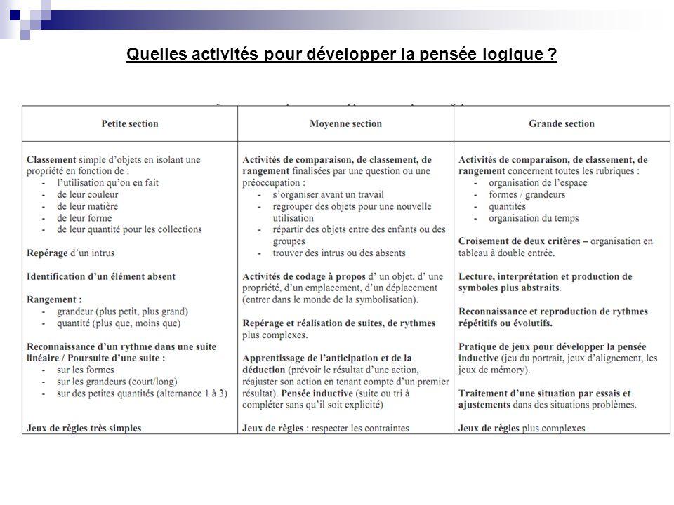 Quelles activités pour développer la pensée logique