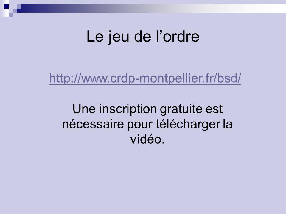 Une inscription gratuite est nécessaire pour télécharger la vidéo.