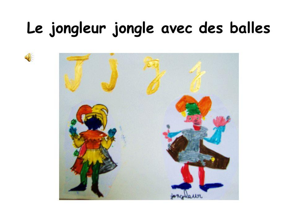 Le jongleur jongle avec des balles