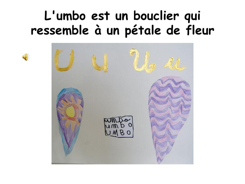 L umbo est un bouclier qui ressemble à un pétale de fleur