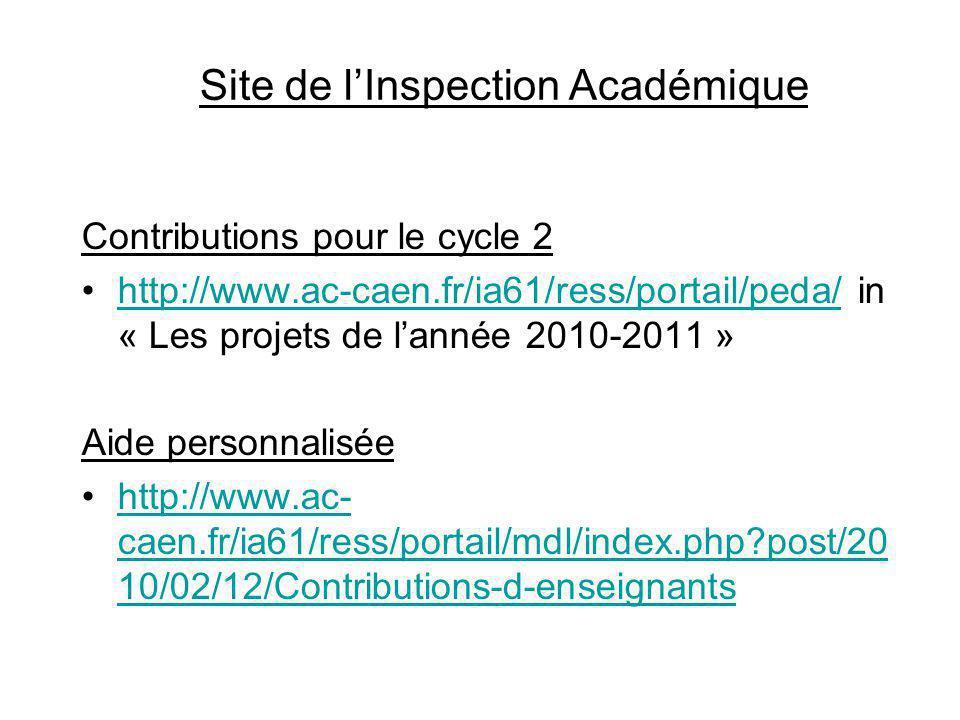 Site de l'Inspection Académique