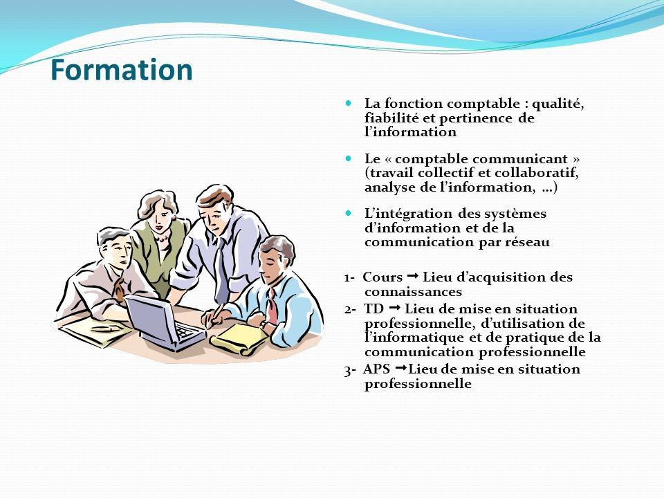 Formation La fonction comptable : qualité, fiabilité et pertinence de l'information.