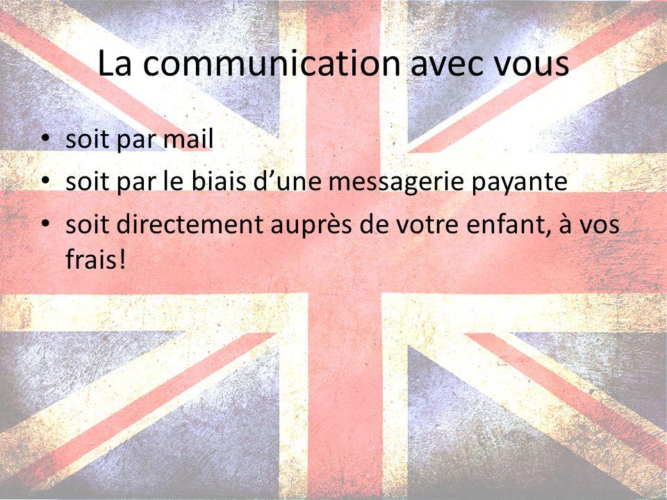 La communication avec vous