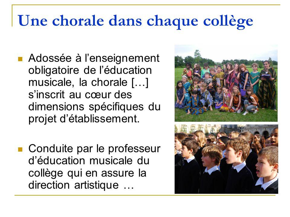 Une chorale dans chaque collège