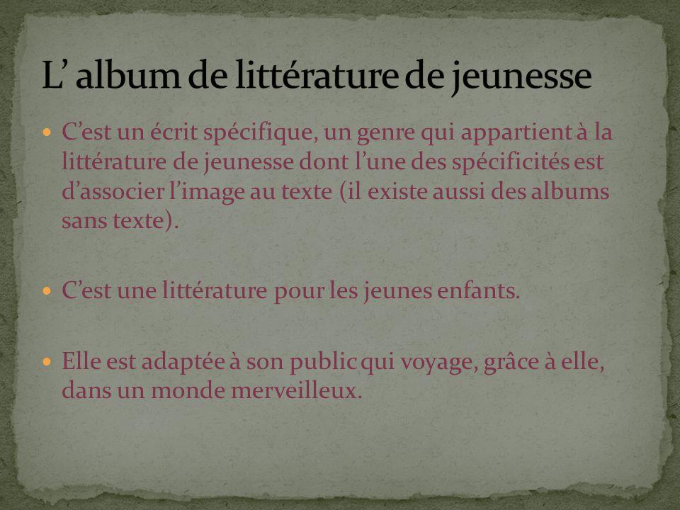 L' album de littérature de jeunesse