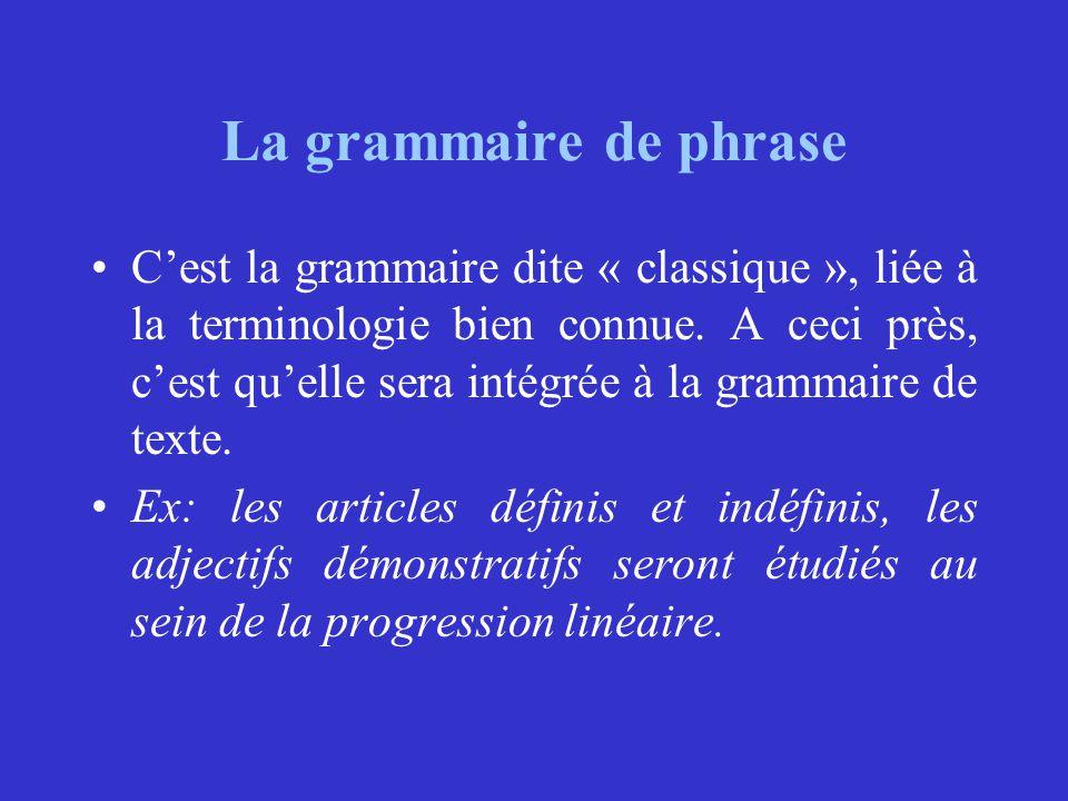 La grammaire de phrase