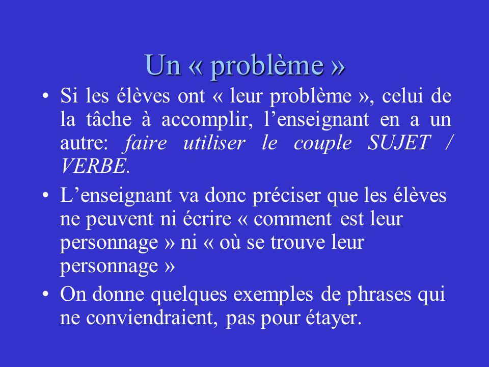 Un « problème »