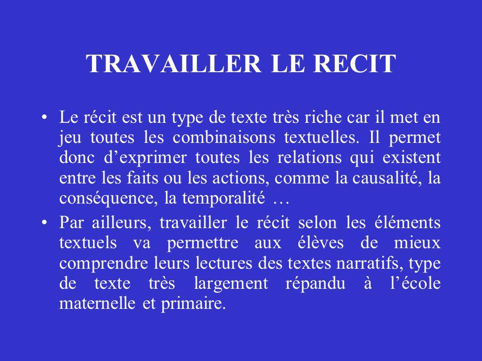 TRAVAILLER LE RECIT