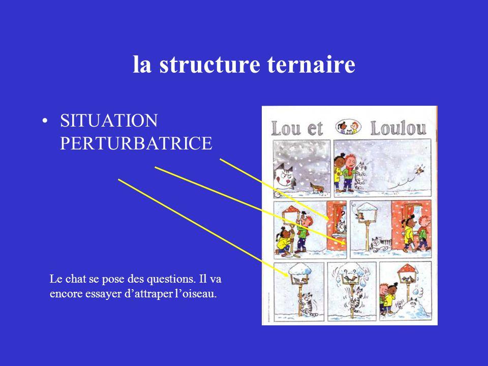 la structure ternaire SITUATION PERTURBATRICE