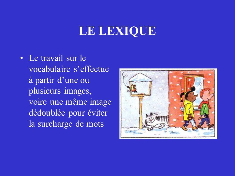 LE LEXIQUE