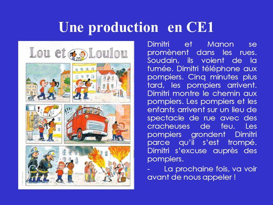 Une production en CE1