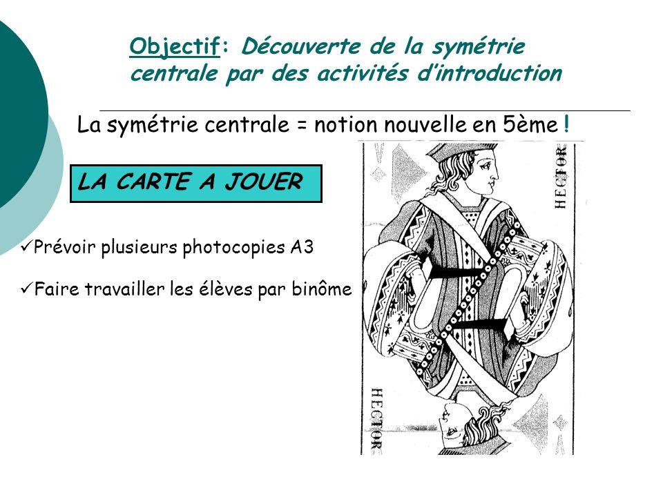 Decouverte De La Symetrie Centrale En Classe De 5eme Ppt Video Online T L Charger