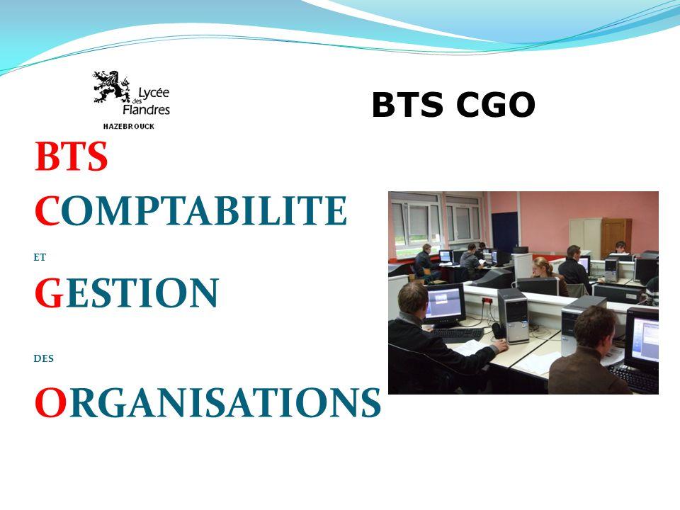 BTS CGO BTS COMPTABILITE ET GESTION DES ORGANISATIONS