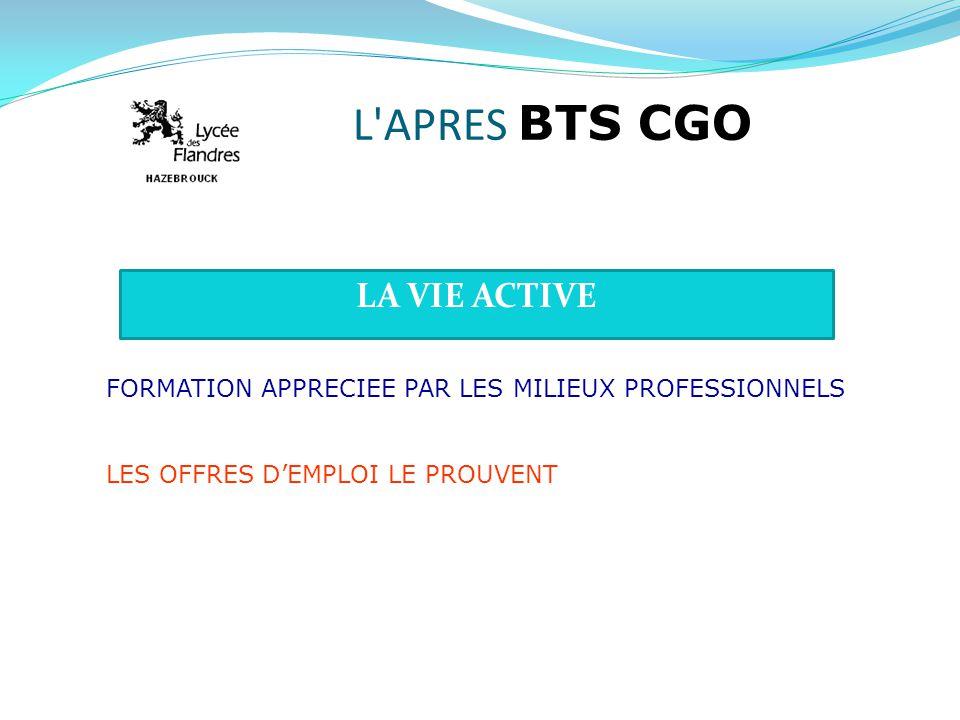 L APRES BTS CGO LA VIE ACTIVE