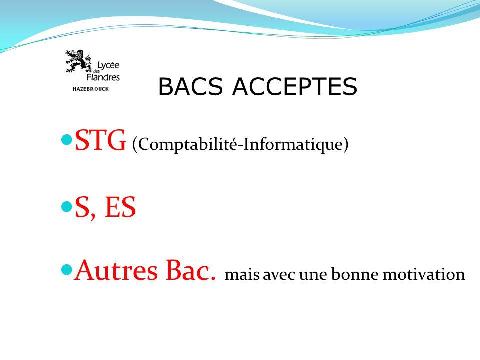 STG (Comptabilité-Informatique) S, ES