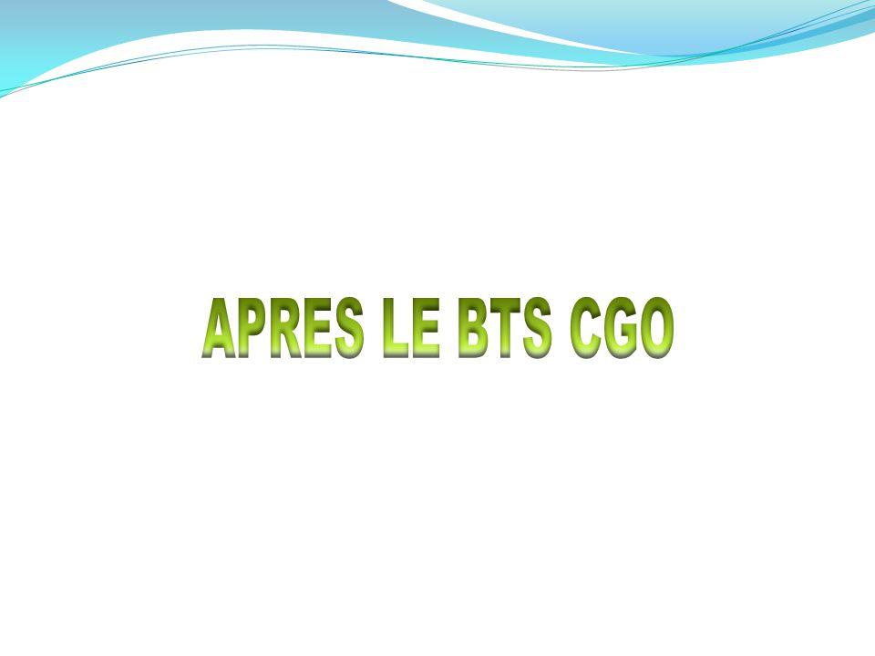 APRES LE BTS CGO