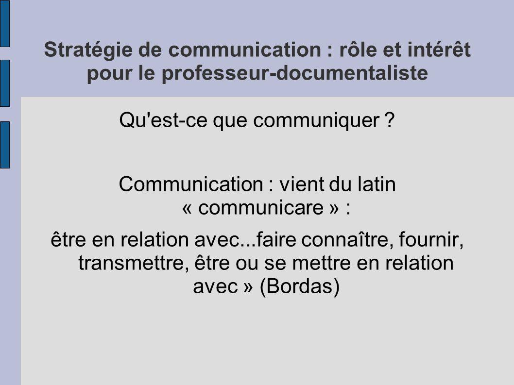 Qu est-ce que communiquer
