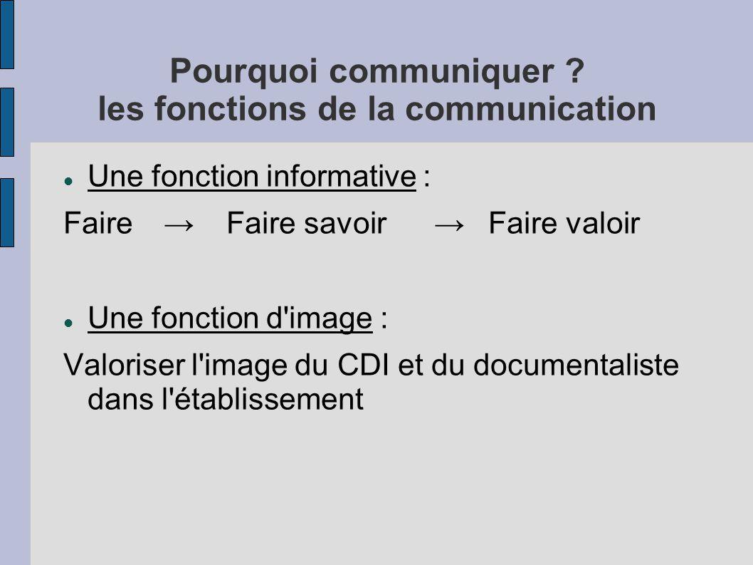 Pourquoi communiquer les fonctions de la communication