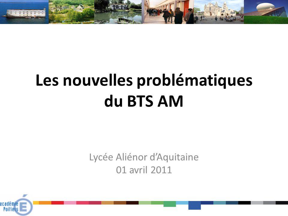 Les nouvelles problématiques du BTS AM