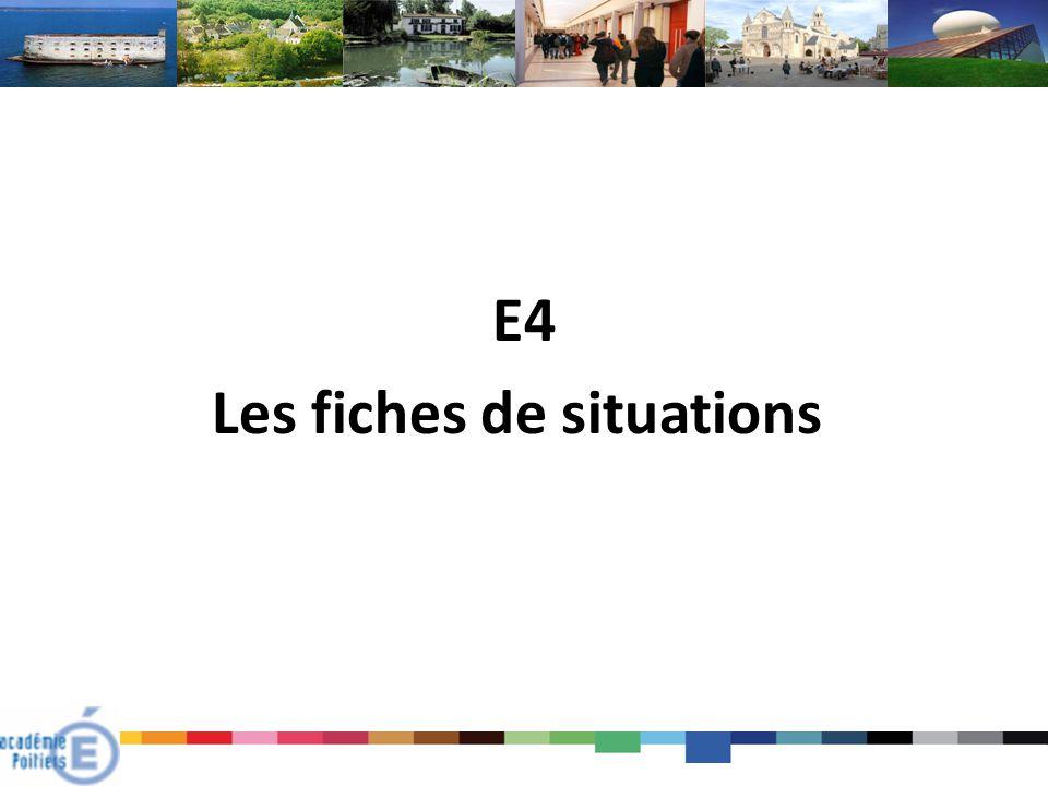 E4 Les fiches de situations