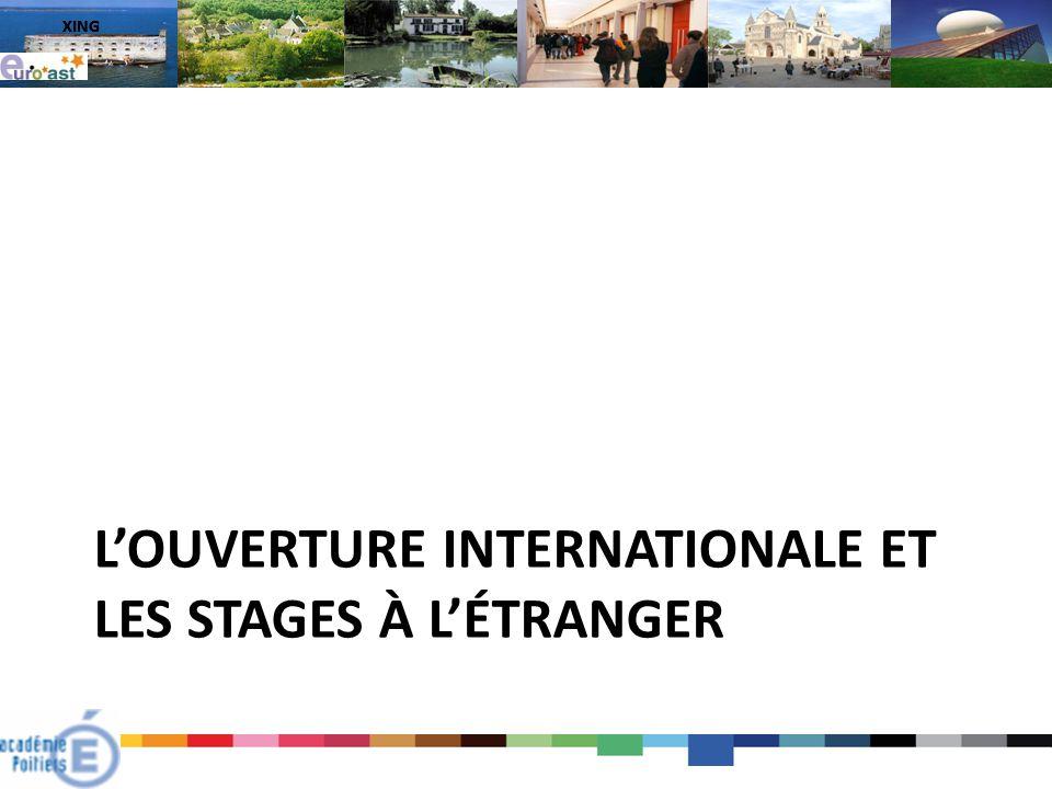 L'ouverture internationale et les stages à l'étranger