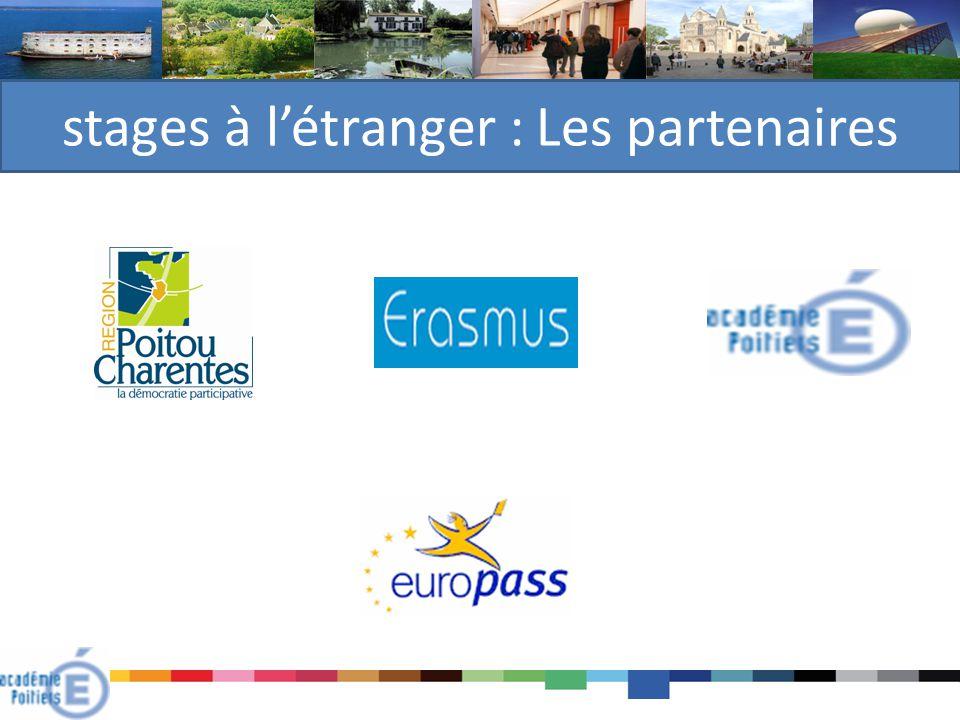 stages à l'étranger : Les partenaires