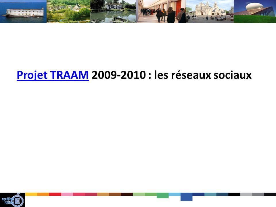 Projet TRAAM 2009-2010 : les réseaux sociaux