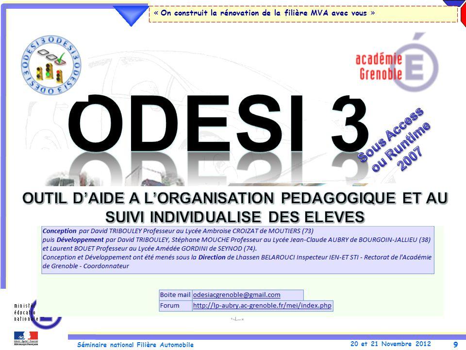 ODESI 3 Sous Access ou Runtime 2007.